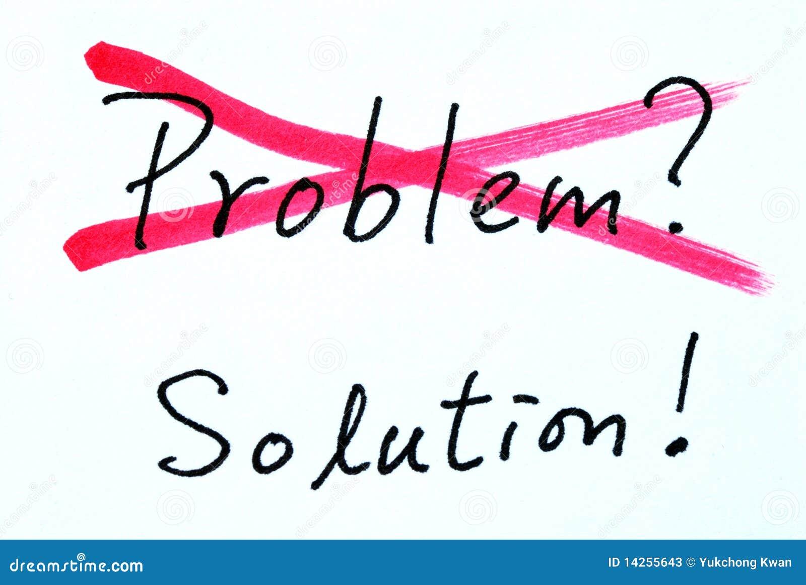 Cruzando para fora o problema e encontrar a solução