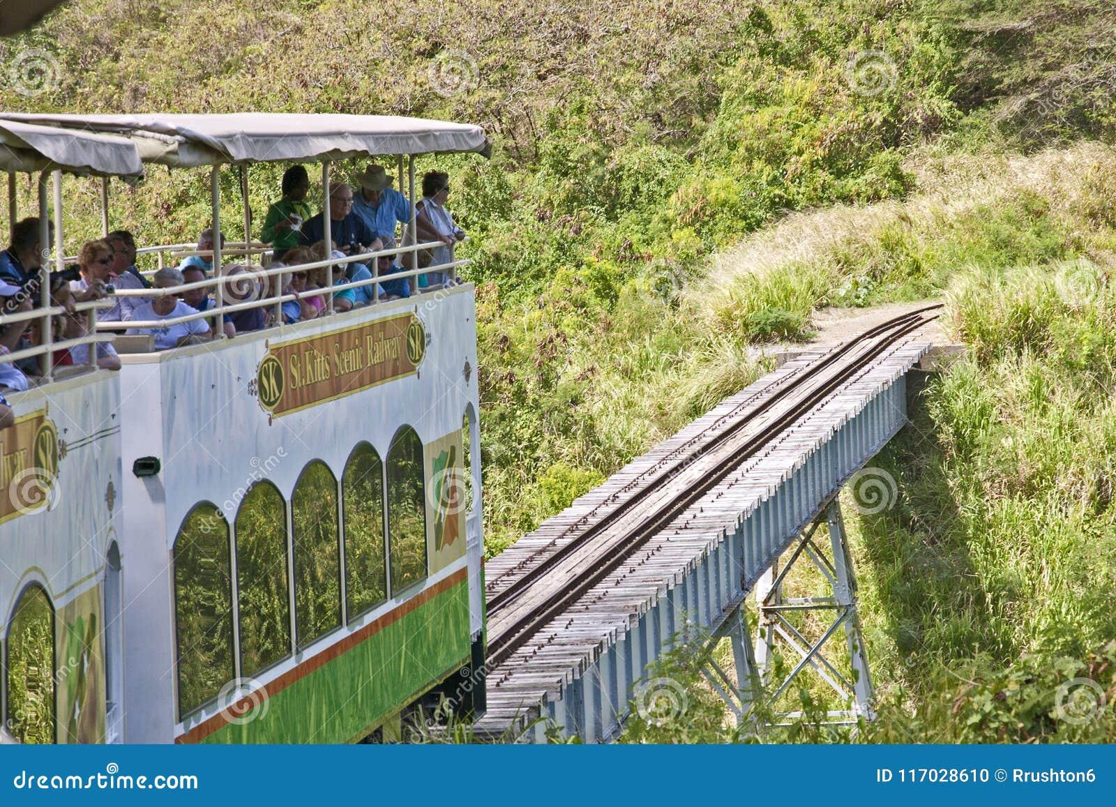 Cruzando a ponte em St Kitts