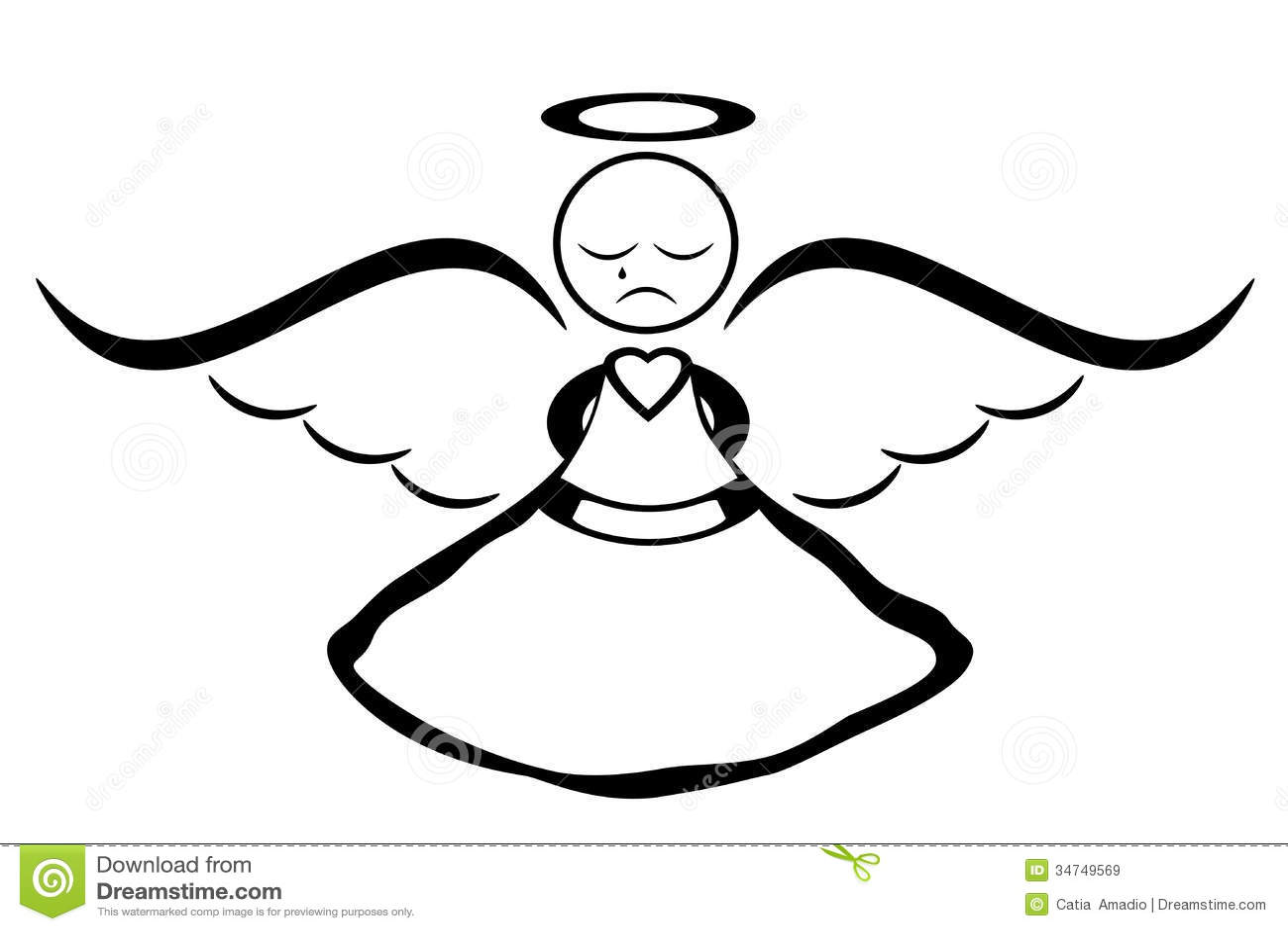 Kerst Kleurplaat Kerstbal Crying Angel Royalty Free Stock Images Image 34749569