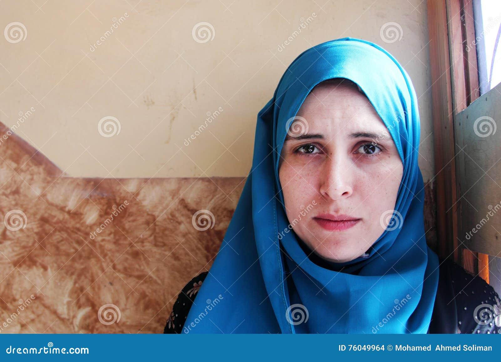 Crying arab muslim woman