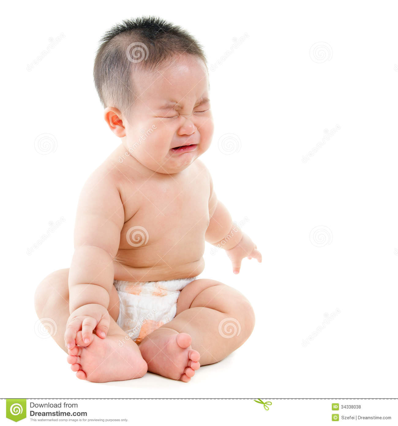 crying asian baby boy stock photo image of length little 34338038. Black Bedroom Furniture Sets. Home Design Ideas