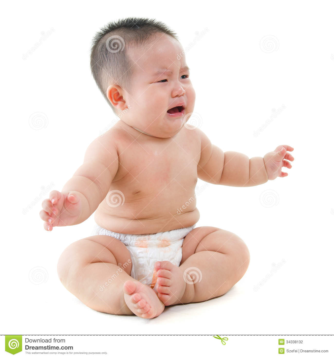 crying asian baby boy requests for food stock photo image 34338132. Black Bedroom Furniture Sets. Home Design Ideas