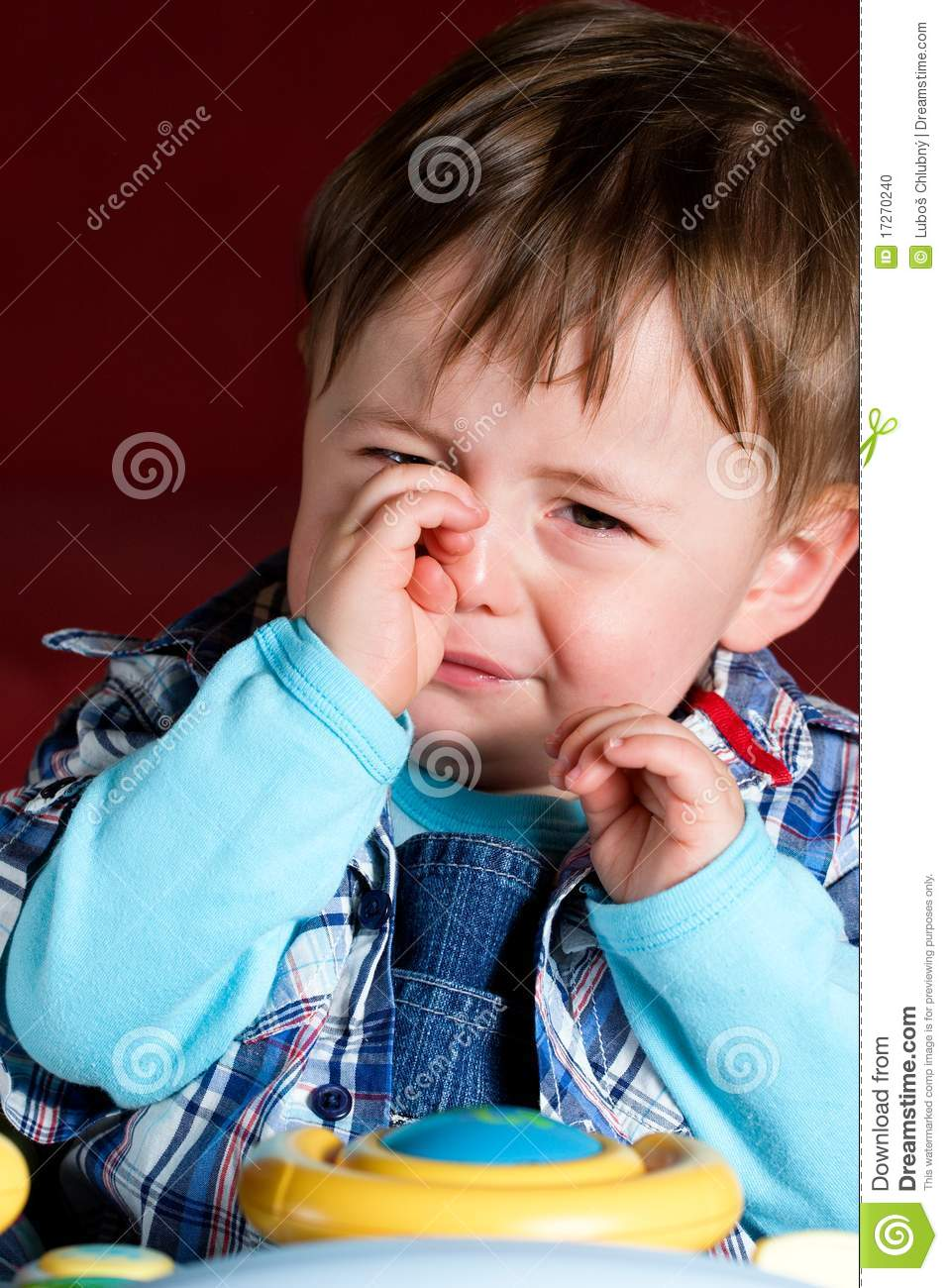 Crying Baby Boy Stock Photo - Image: 17270240