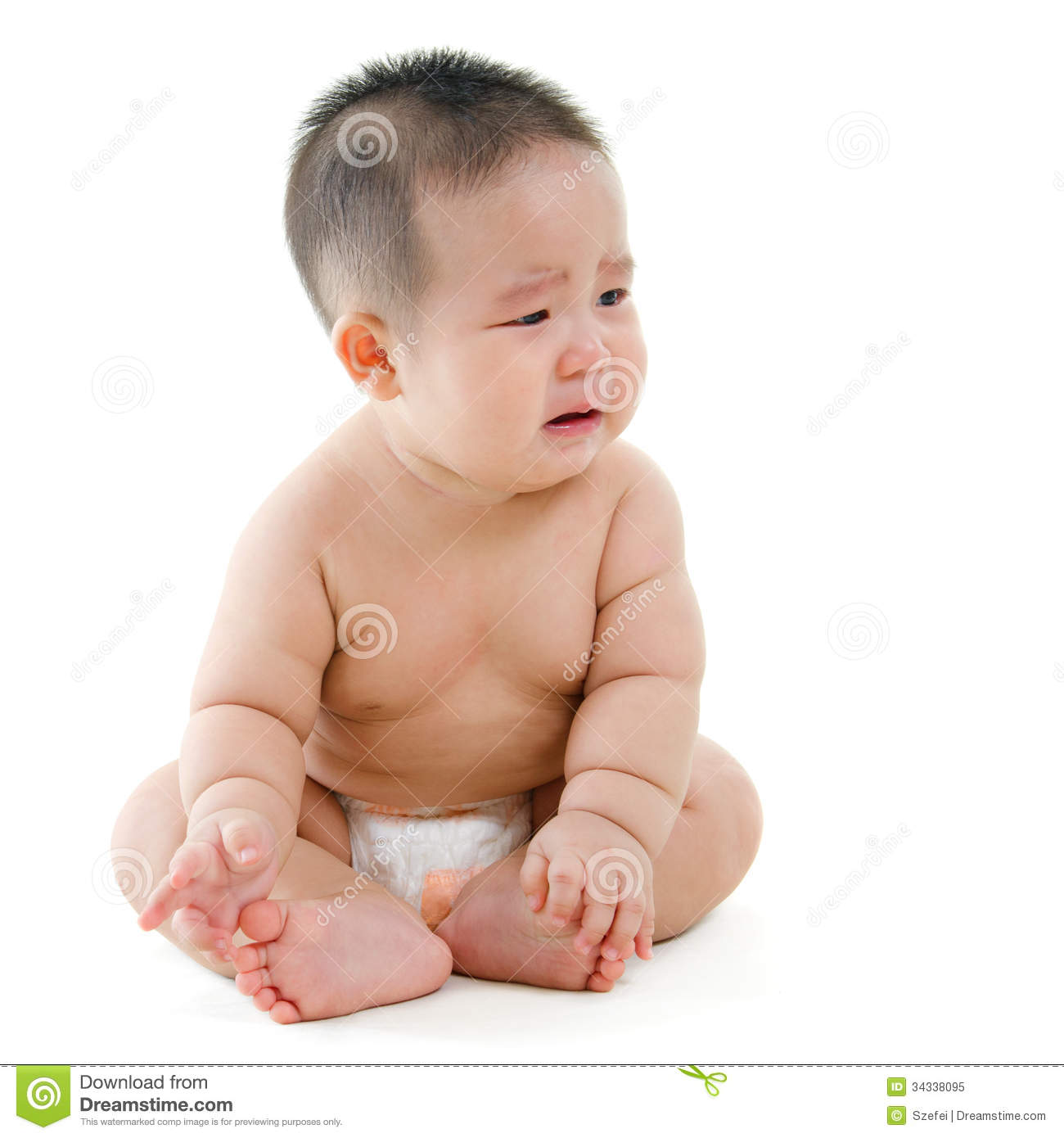 crying baby boy stock image image of asian crying grimace 34338095. Black Bedroom Furniture Sets. Home Design Ideas