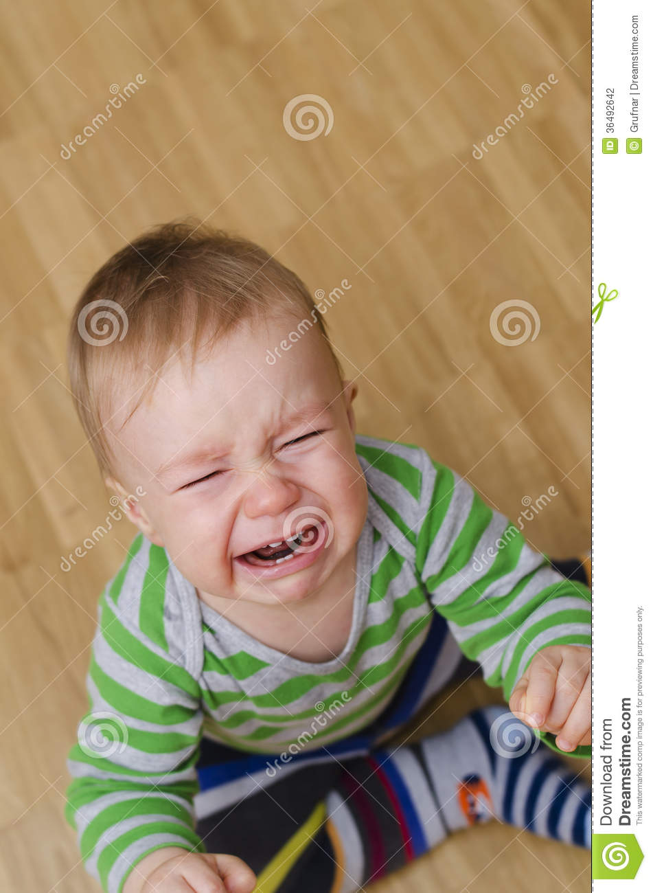 Crying Baby Boy Stock Photo Image Of Mouth Baby