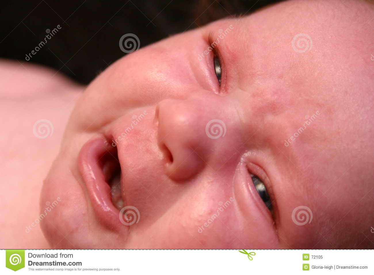 crying baby face royalty free stock photo
