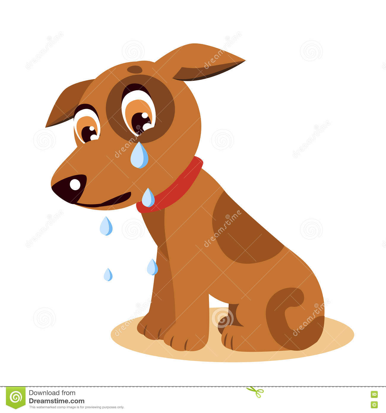 crying dog emoji crying dog face sad crying dog stock vector rh dreamstime com sad dog cartoon pictures sad dog cartoon story