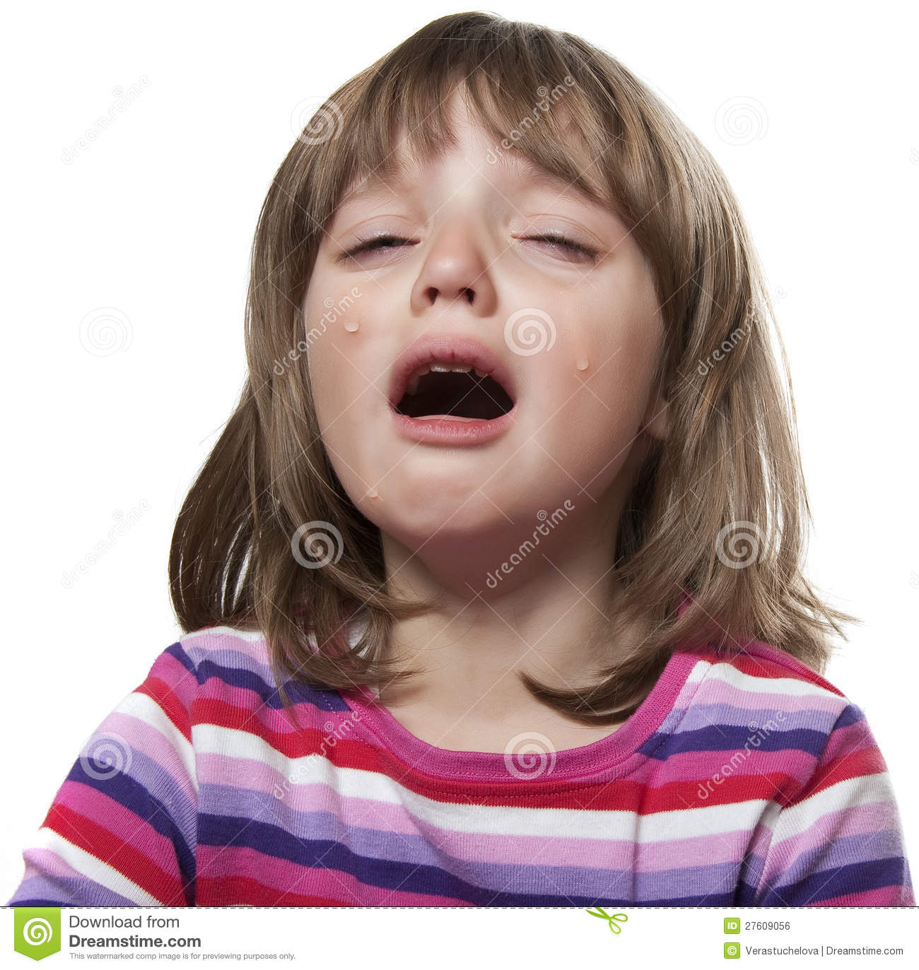 Crying Little Girl Royalty Free Stock Image - Image: 27609056