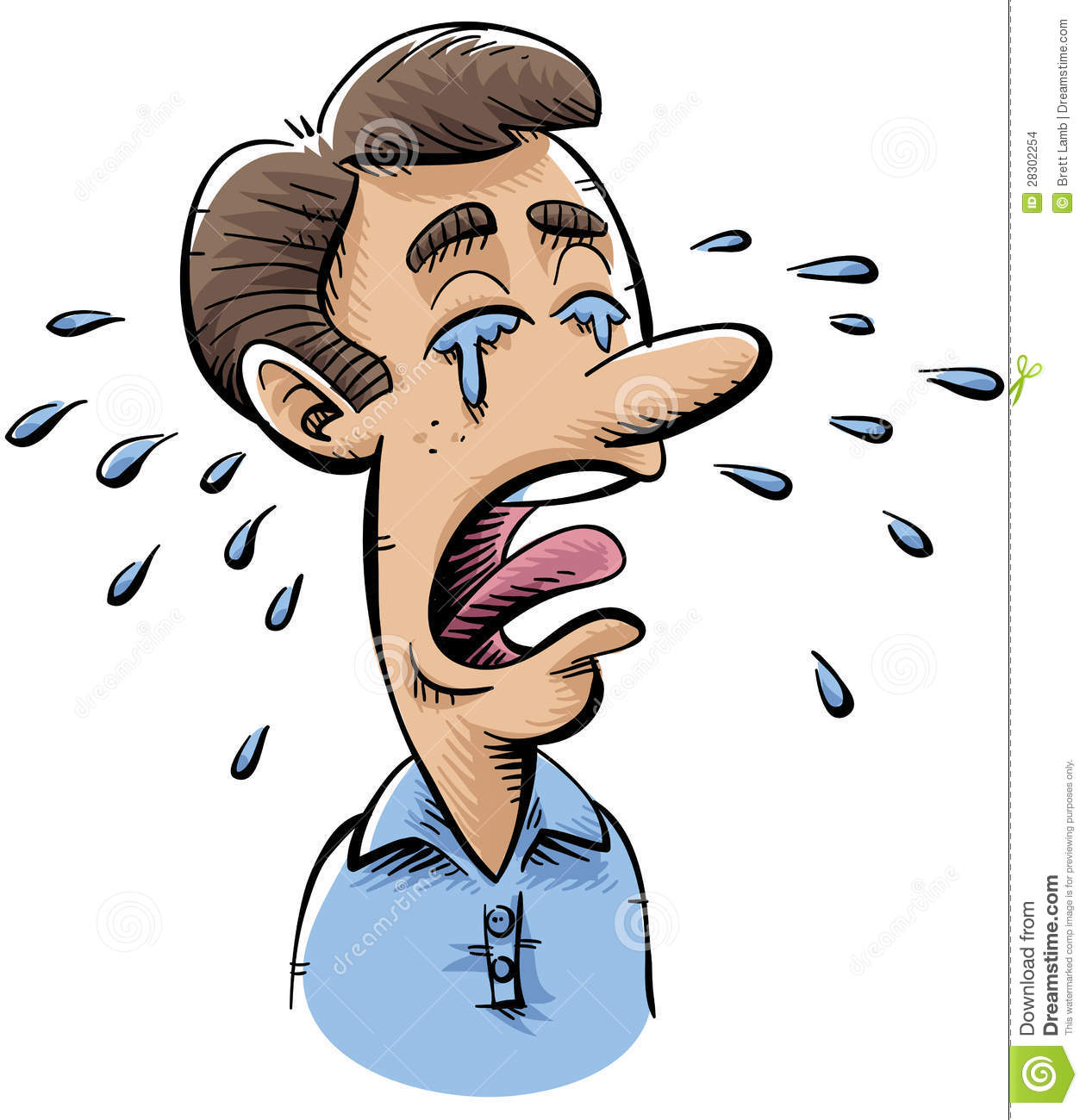 Crying Man Stock Images - Image: 28302254