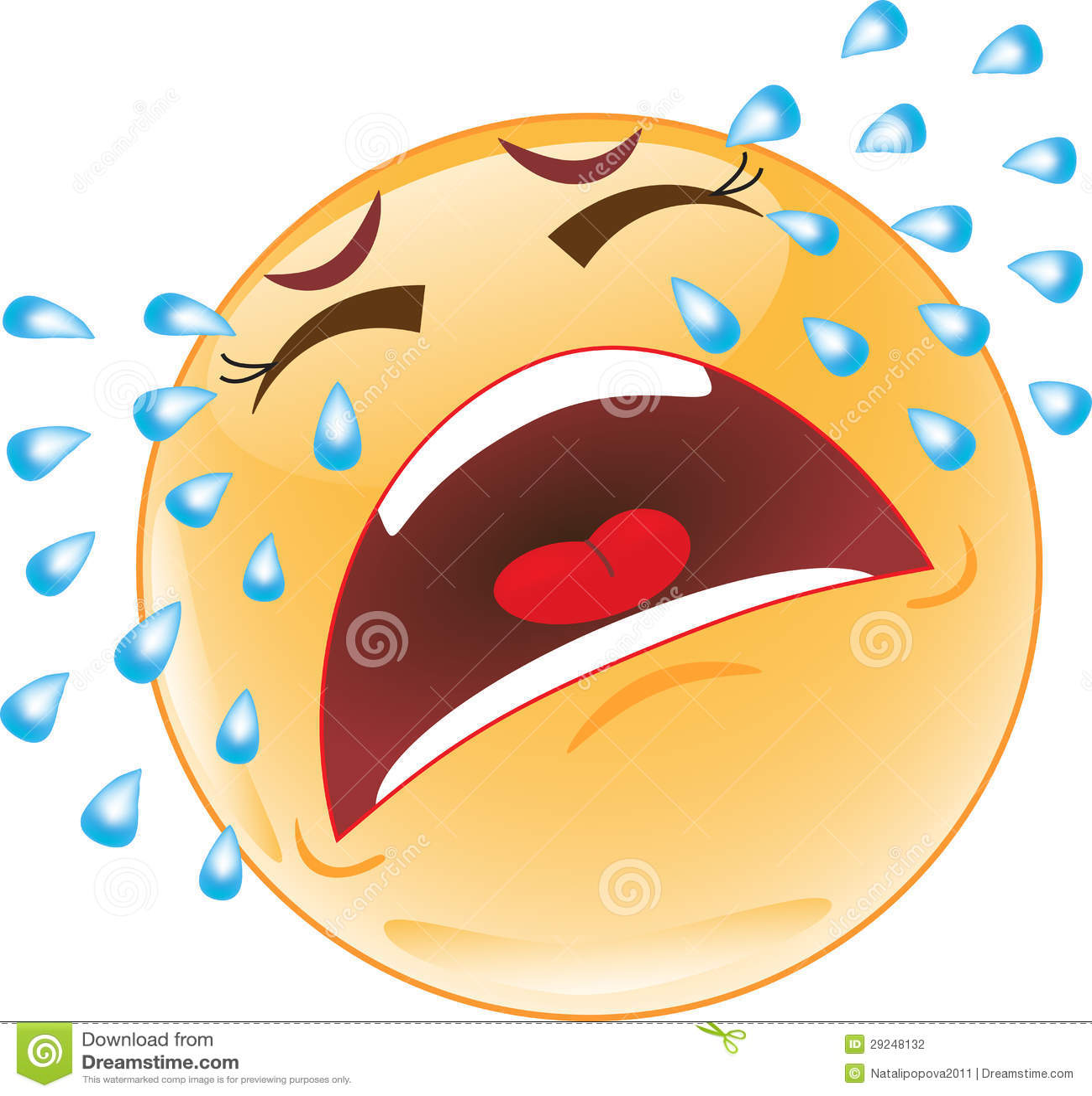 Crying Smiley Illustration 29248132 Megapixl