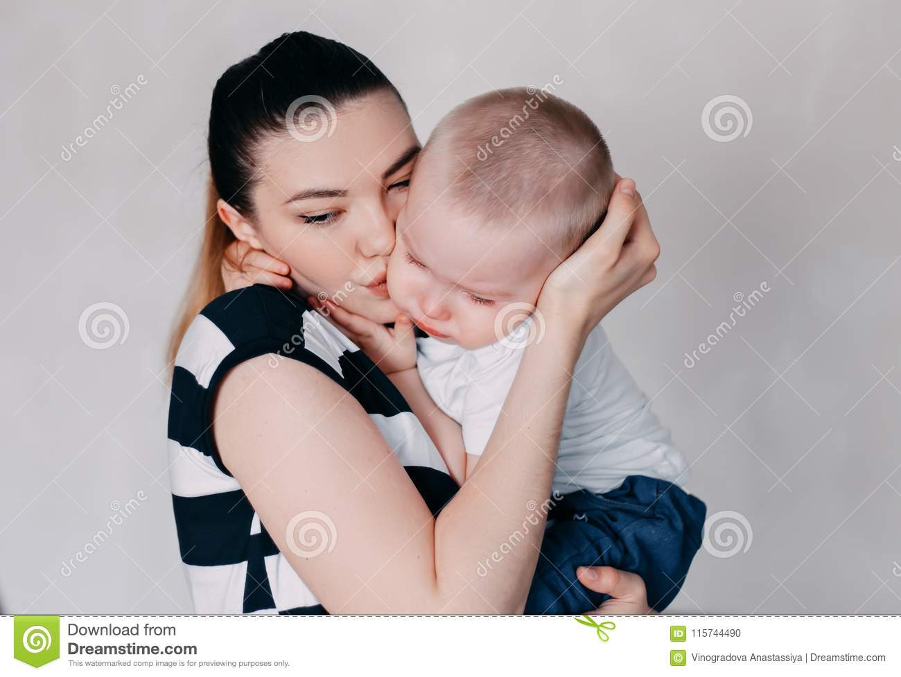Crying Toddler Girl Being Consoled By Her Mother Stock Photo Image Of Concept Childhood 115744490
