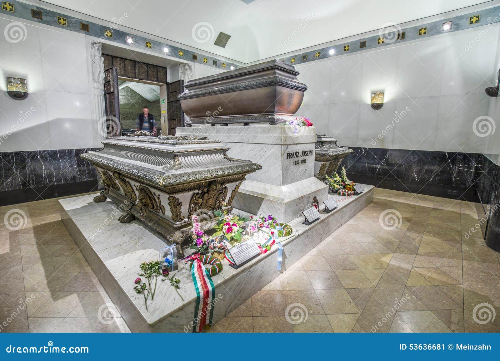 Crypt Habsburger królowa Elisabeth dzwonił Sisi w Wiedeń