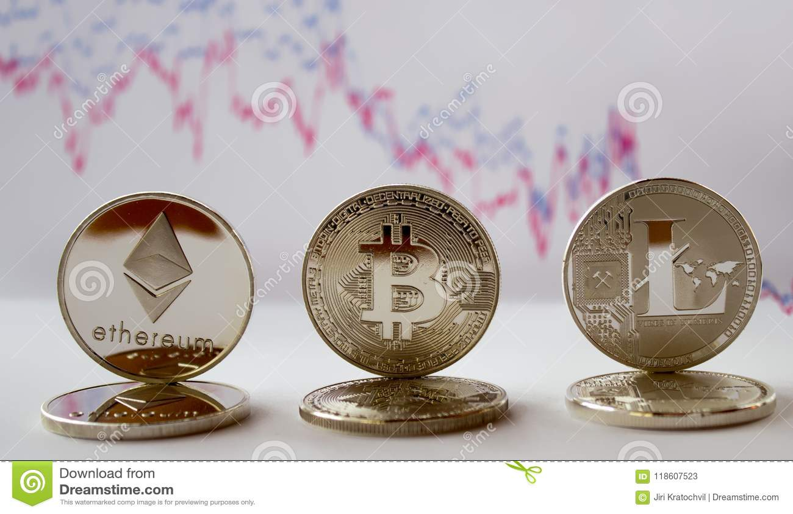 Crypto - bitcoin ethereum litecoin και γραφική παράσταση