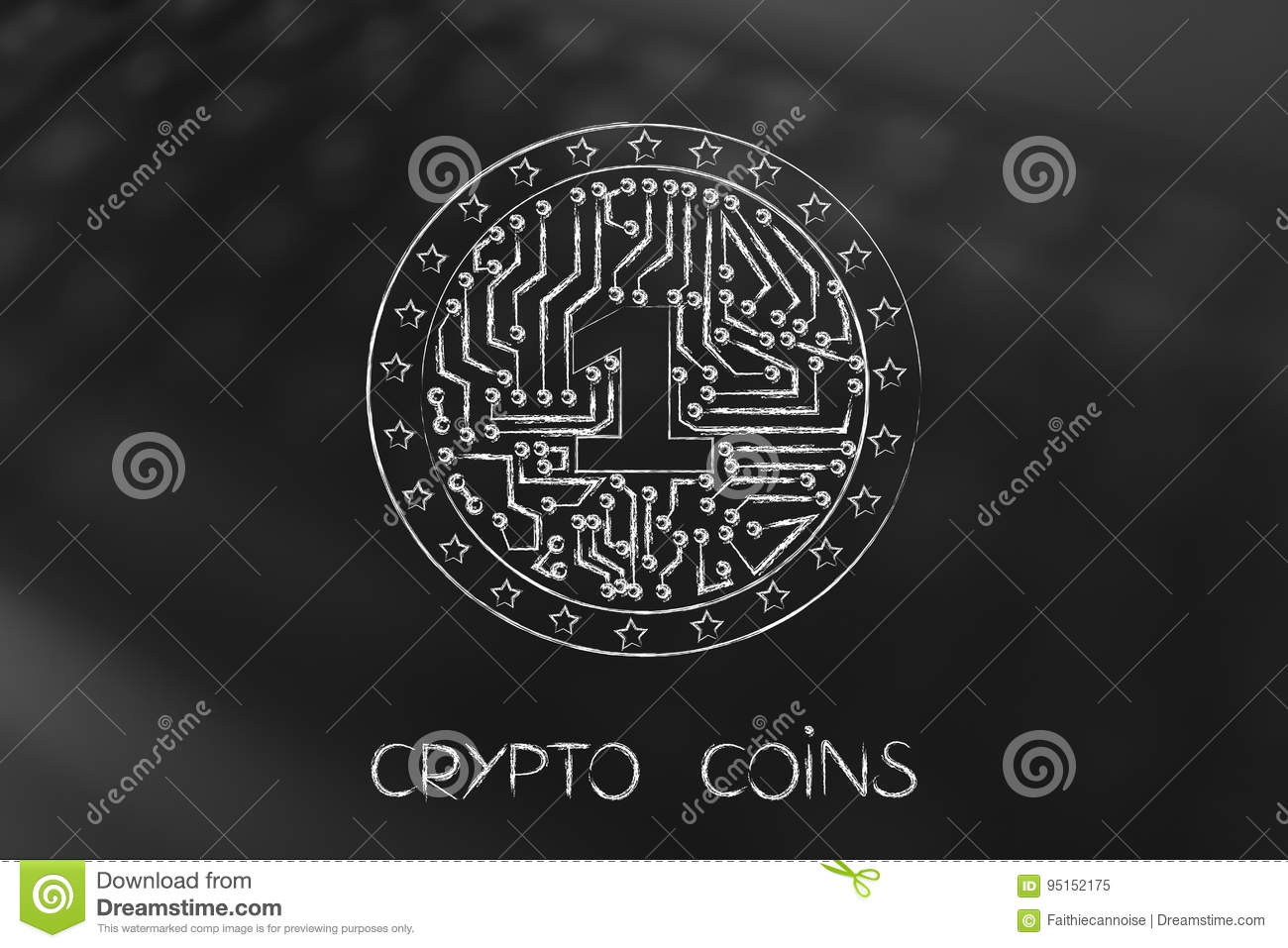 Coin Electronic Circuits Schematics Wiring Diagrams Toss Circuit Diagram Crypto With Inside Stock Illustration Rh Dreamstime Com Elronic Brands Of Coins