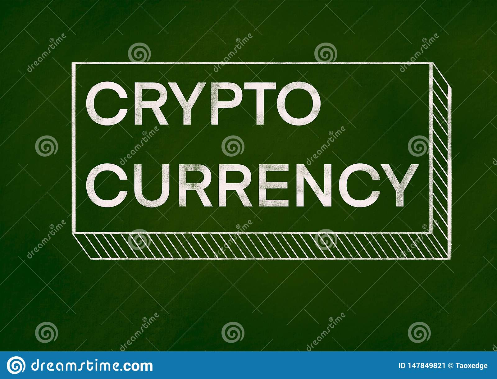 Crypto currency background concept