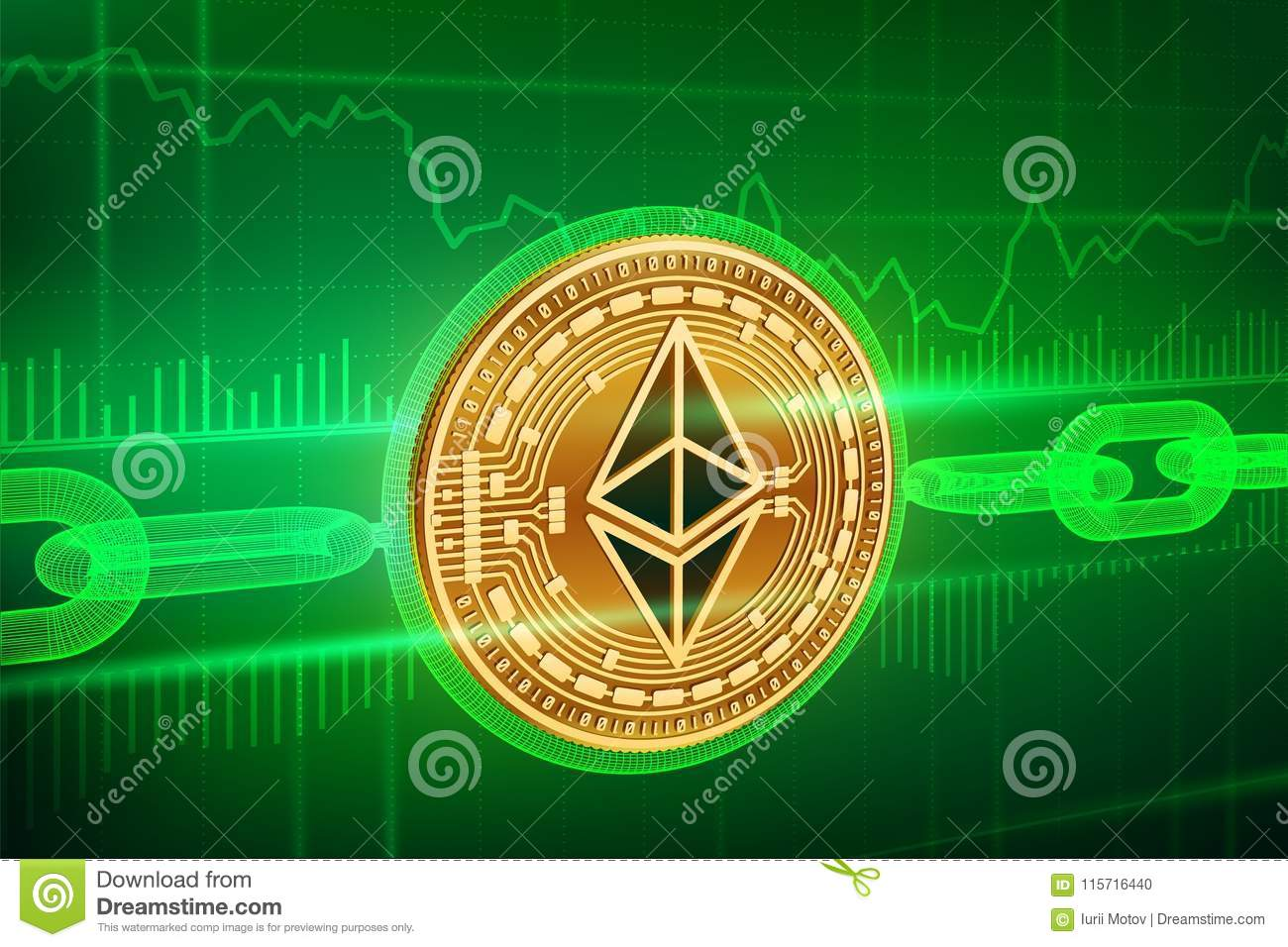 Crypto Currency  Block Chain  Ethereum  3D Isometric