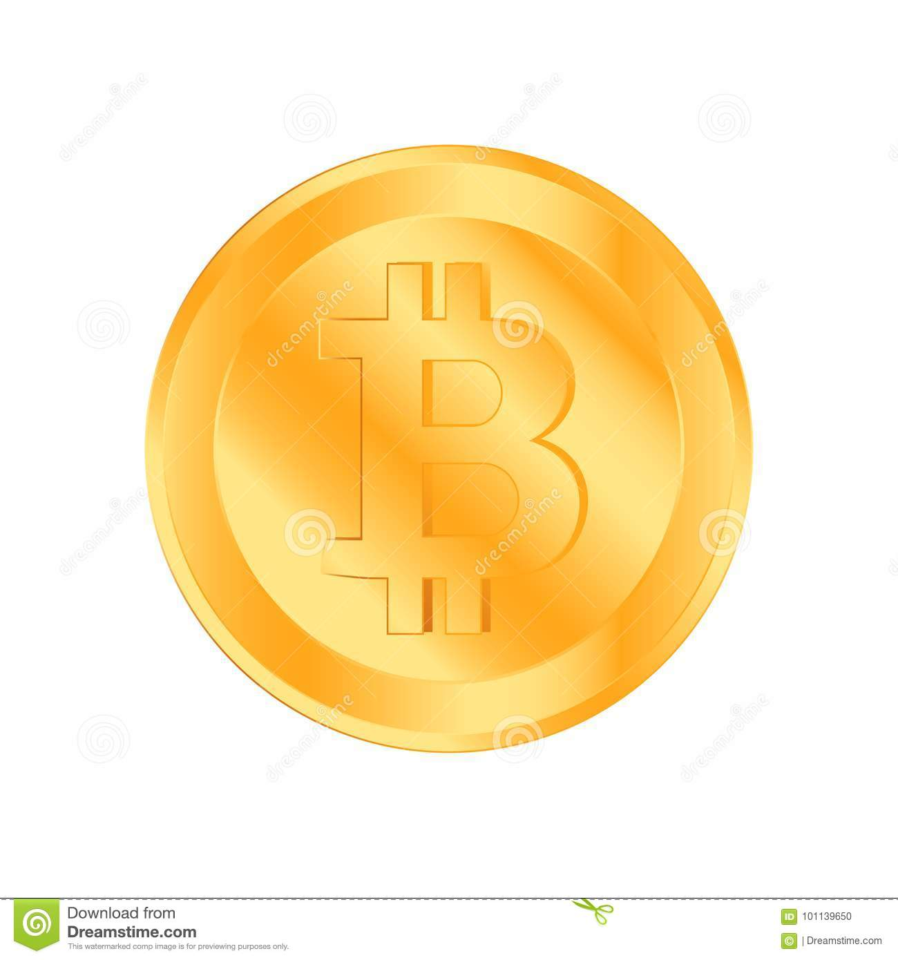 Crypto Currency Golden Coin On White Background. Bitcoin Symbol Of  Electronic Money. Flat Illustration EPS 10 Stock Illustration -  Illustration of cryptocurrency, cash: 101139650