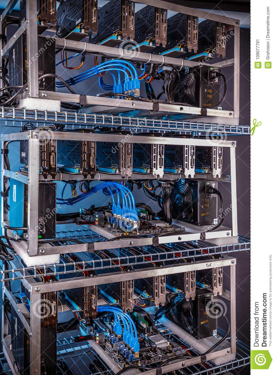 Crypto currency mining equipement