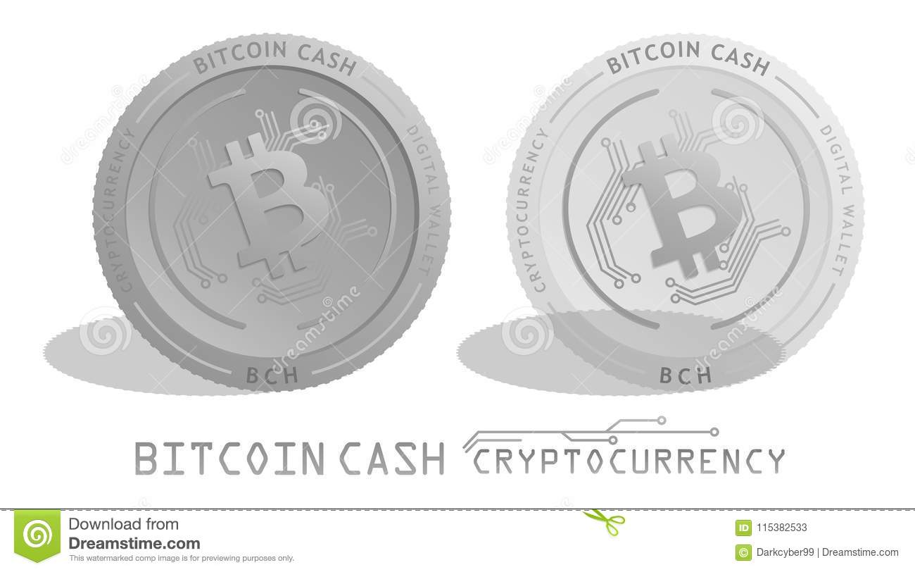 Cryptocurrency Bitcoin Cash Bch Digital Currency Wallet Realistic Silver Coin And Transparency Coin Stock Illustration Illustration Of Coin Ecommerce 115382533