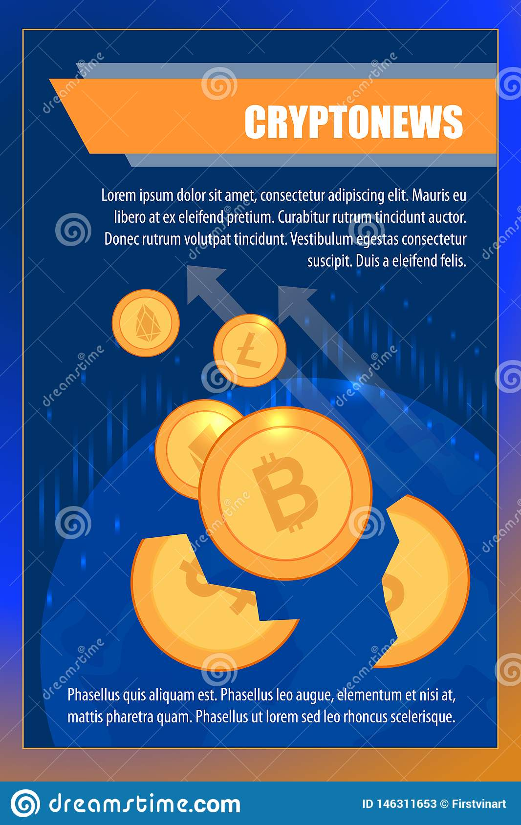 Altcoin Trader cryptocurrency exchange rates for trader wallet stock vector