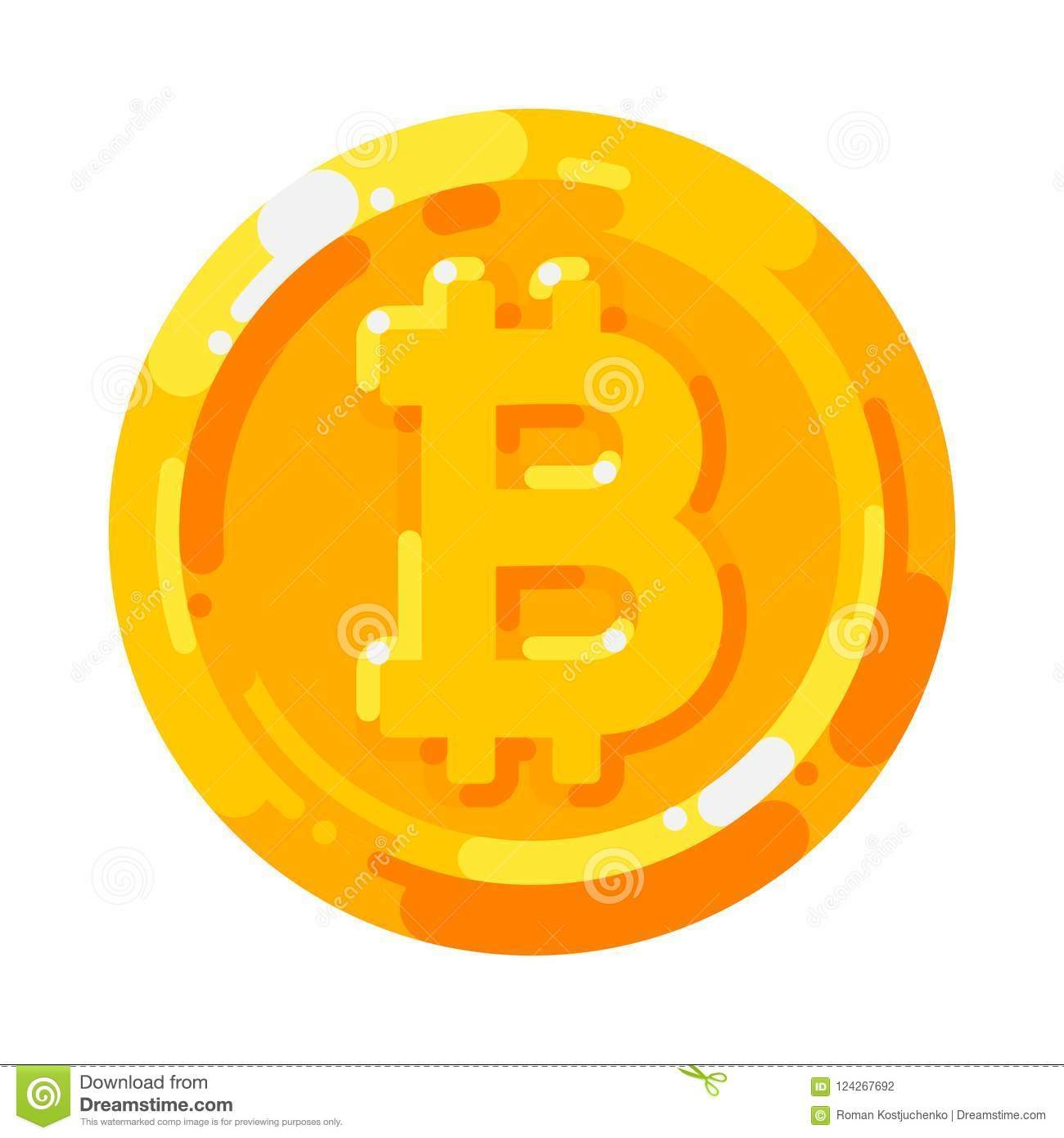 Cryptocurrency Logo Digital Money Bitcoin Blockchain Finance Symbol Stock Vector Illustration Of Earning Economy 124267692