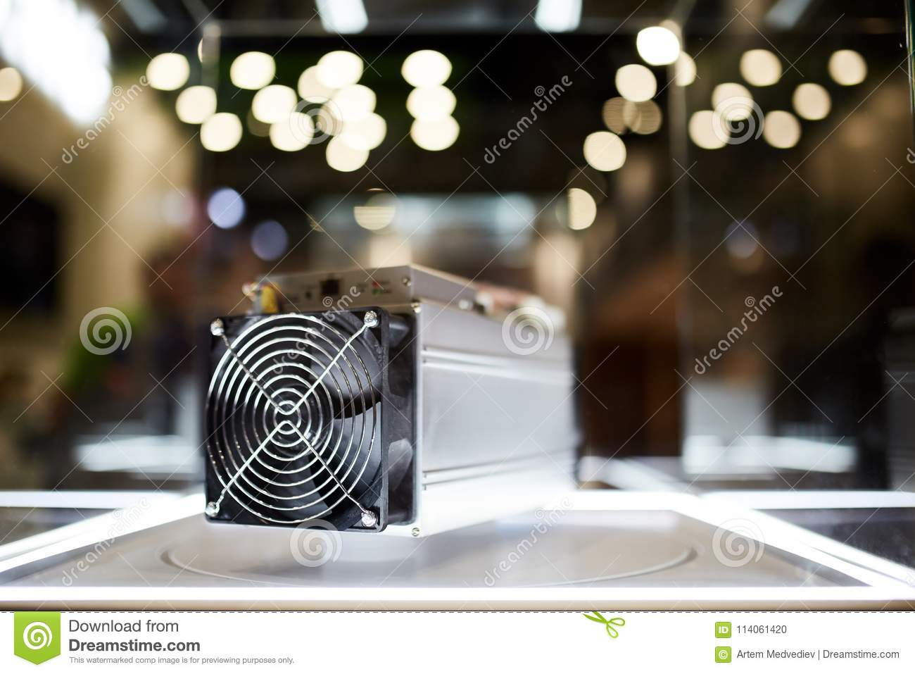 Download Cryptocurrency Mining Equipment - ASIC - Application Specific Integrated Circuit On Farm Stand At Expo Editorial Image - Image of board, abstract: 114061420