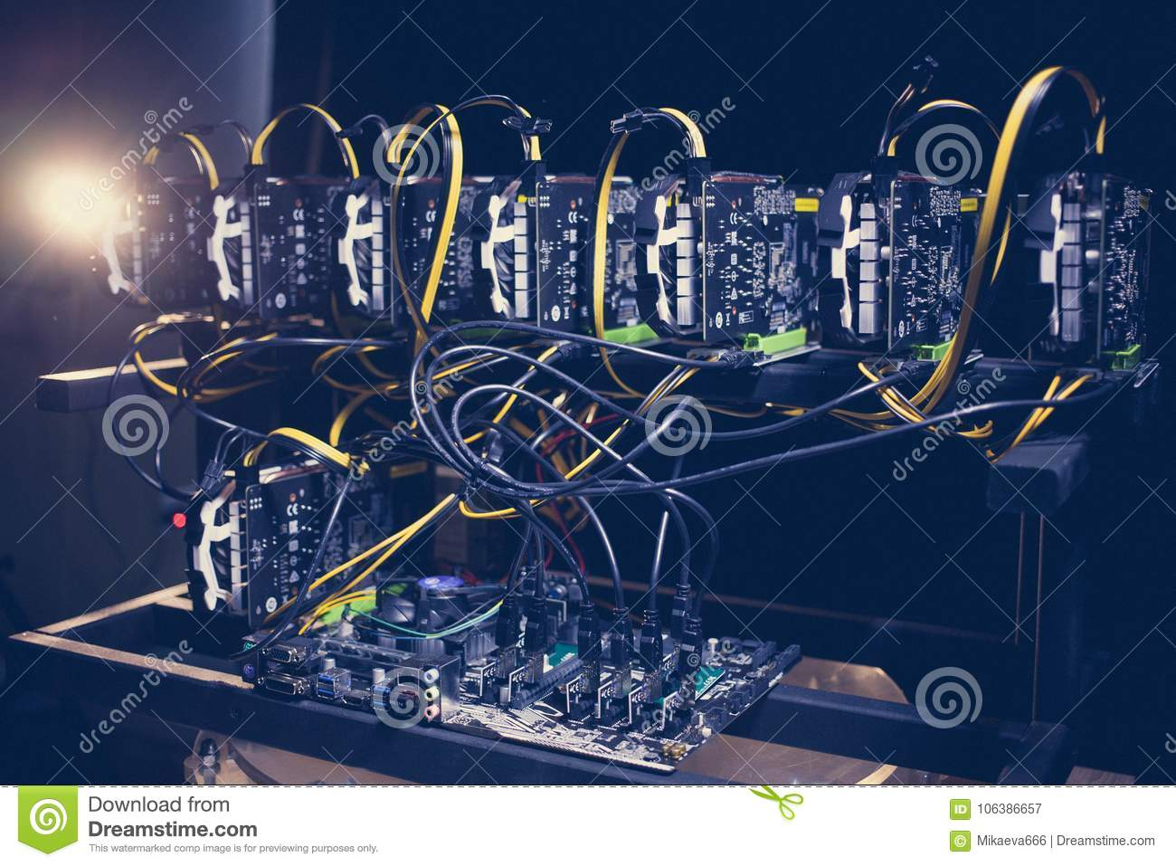 Cryptocurrency Mining Farm  Bitcoin And Altcoins Mining