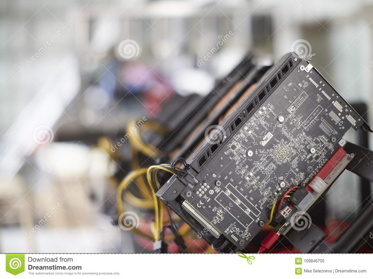 Cryptocurrency Mining Rig Using Graphic Cards To Mine For ...