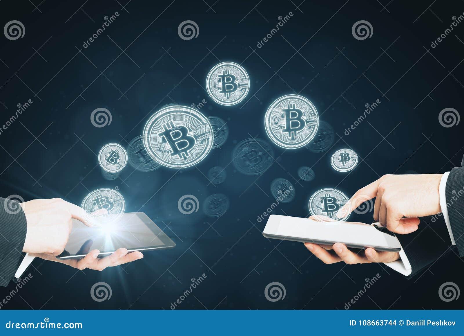 Cryptocurrency och betalningbegrepp