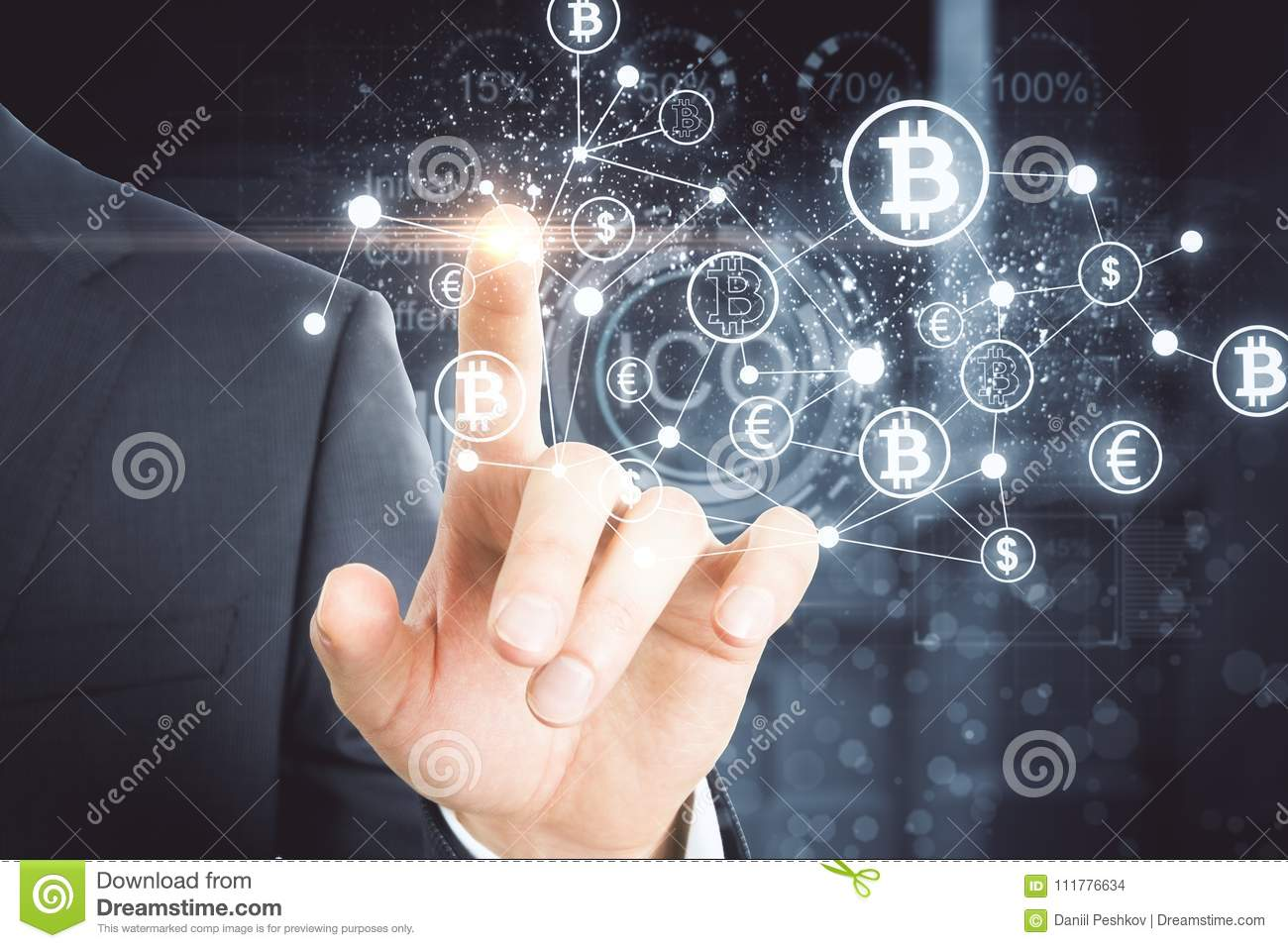 Cryptocurrency and payment concept