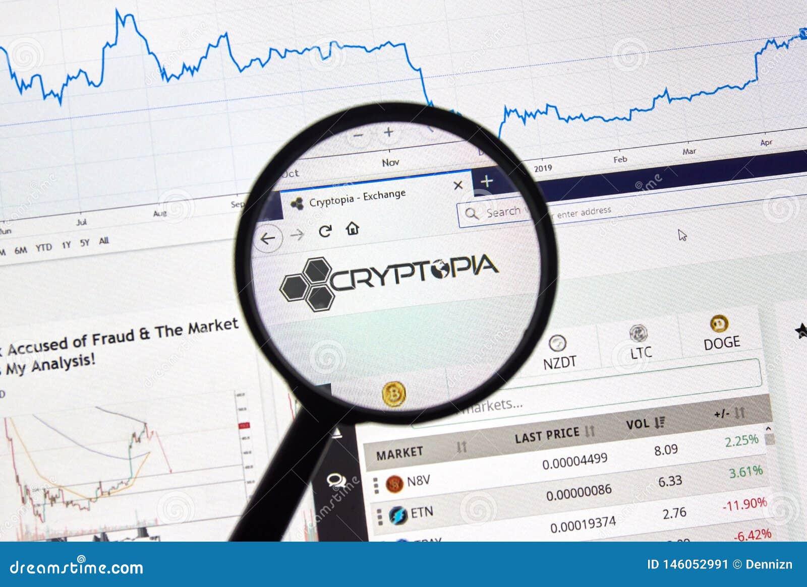cryptopia cryptocurrency exchange