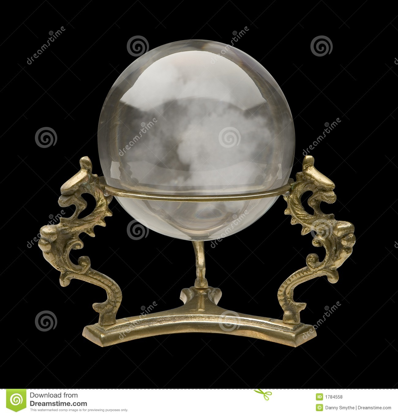 Crystal Ball against a black background.Isolation is on a transparent ...