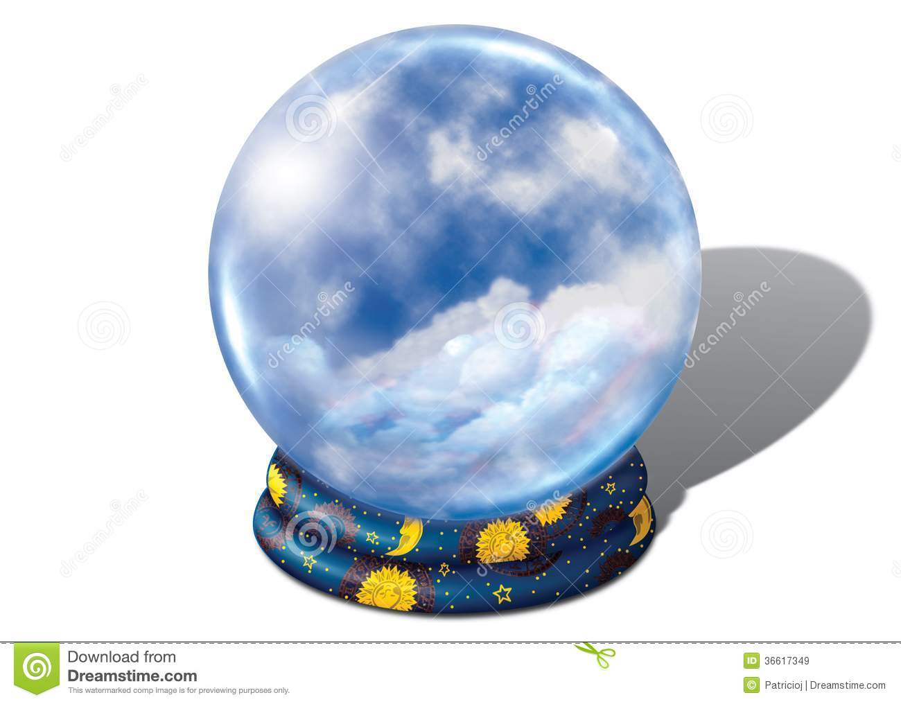 Crystal Ball With Clouds Royalty Free Stock Images Image