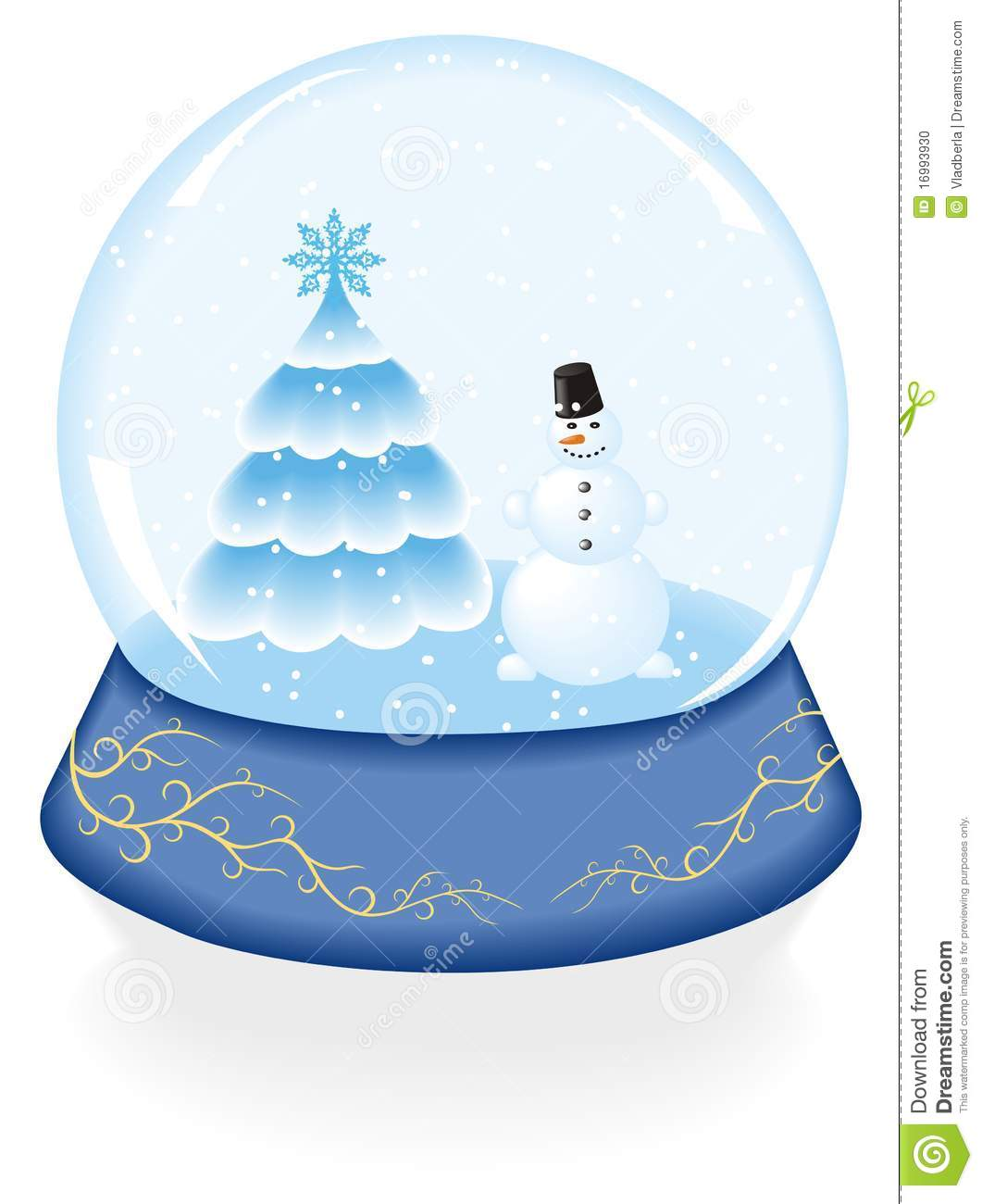 Crystal Ball And Snowman Stock Vector Image Of Glass