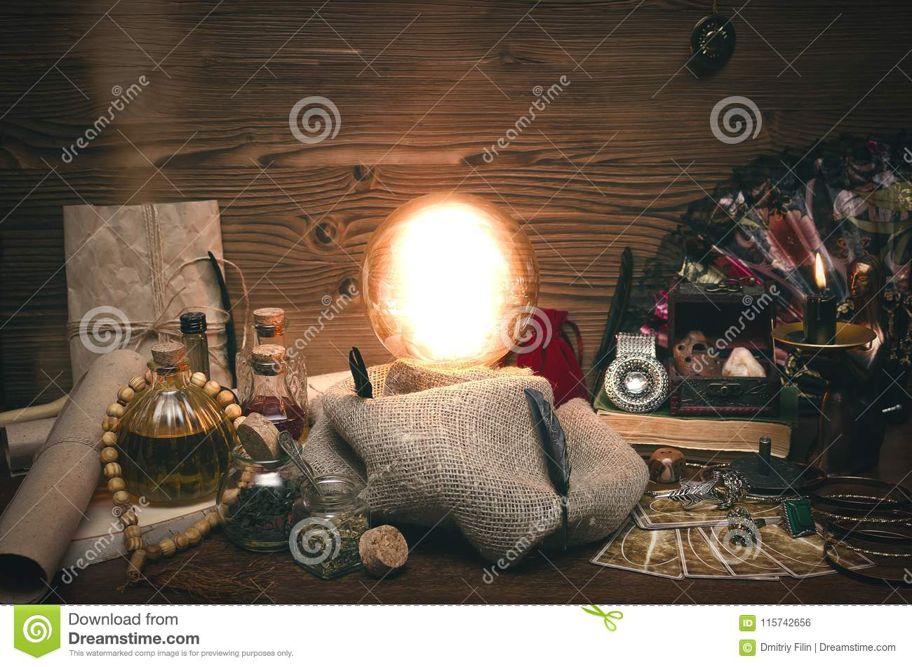Crystal Ball And Tarot Cards  The Seance  Reading Of Fate