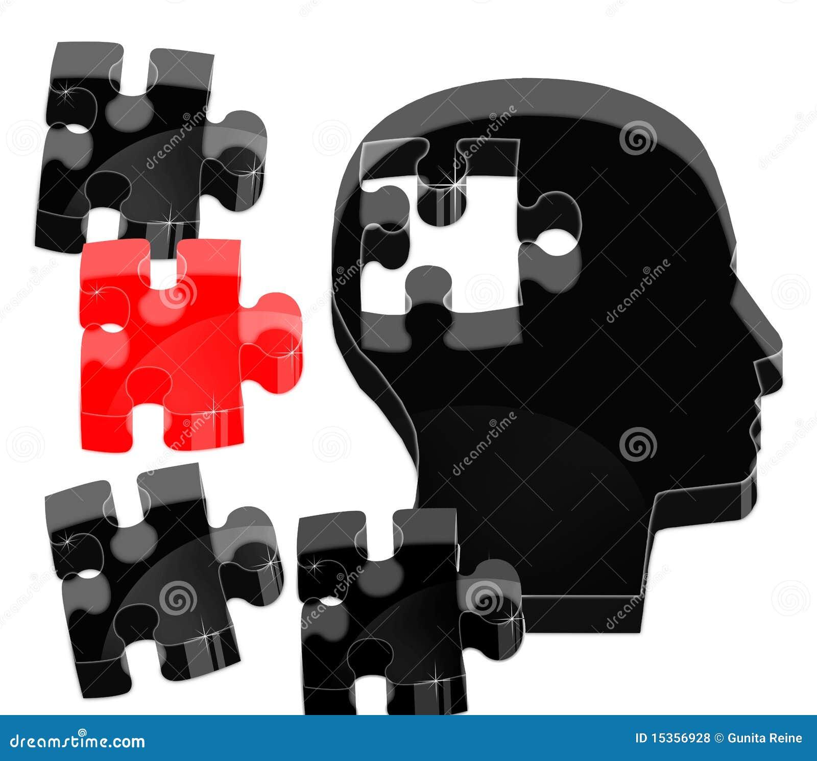 Crystal brain puzzle stock illustration  Illustration of