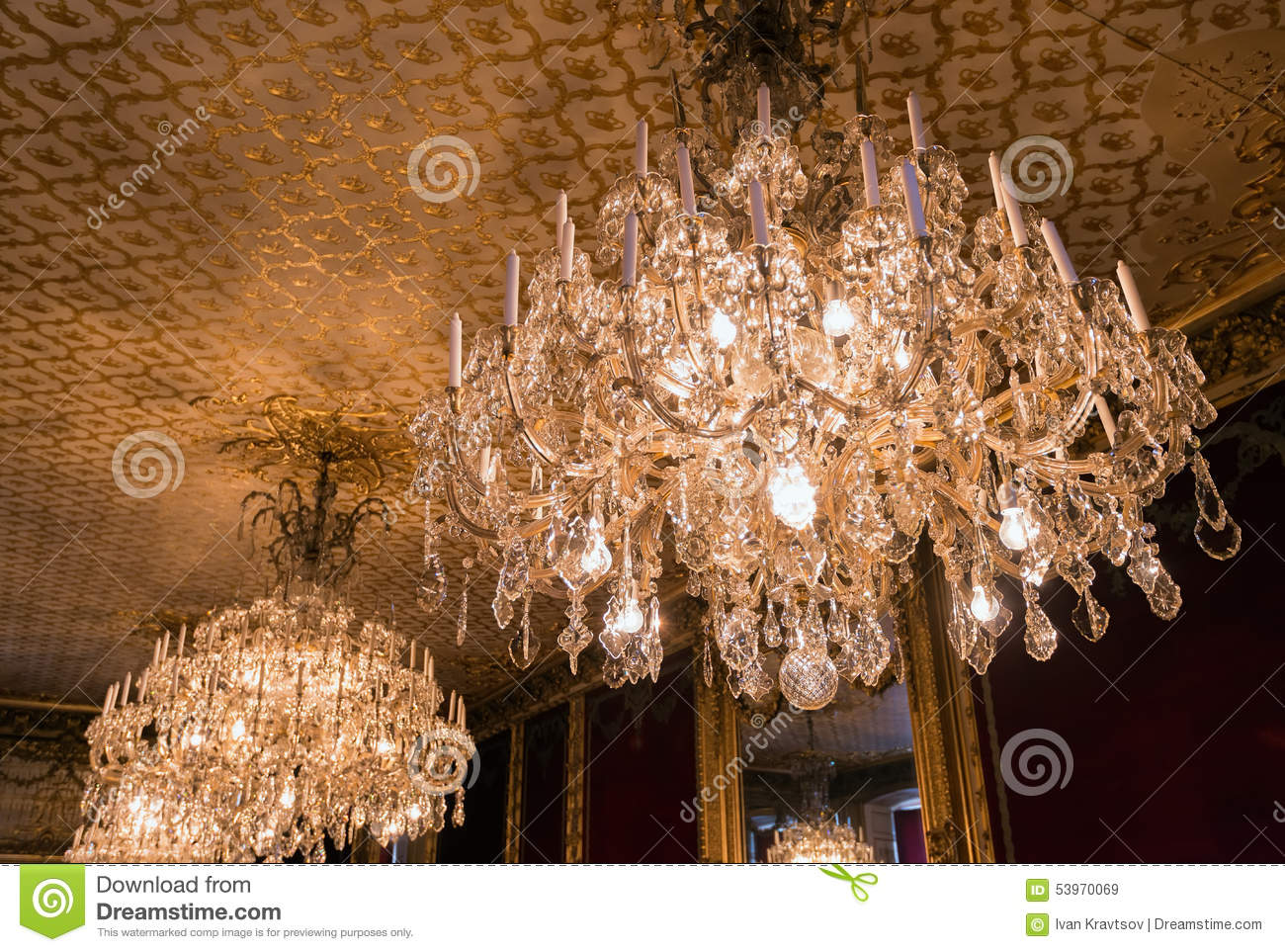 Crystal Chandelier Editorial Stock Image - Image: 53970069