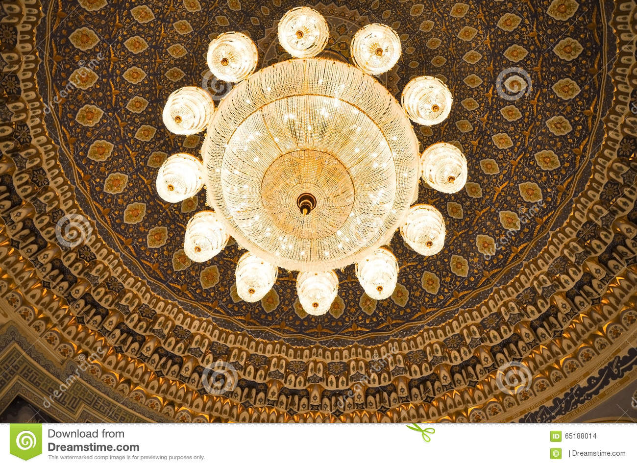 Crystal chandelier of State Museum of History of Timurids, Tashke