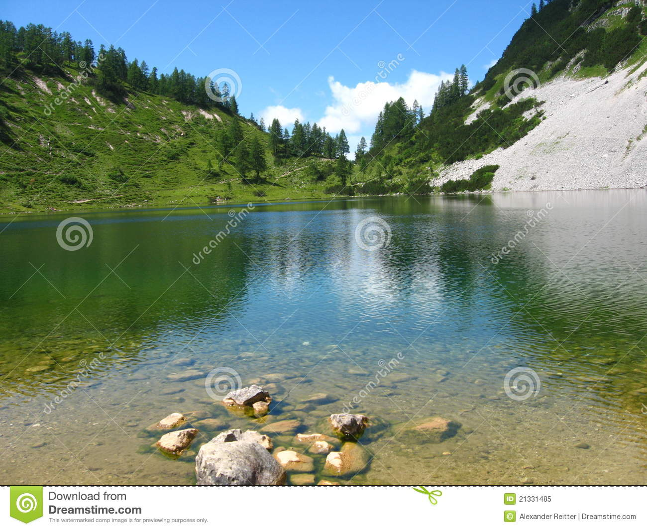 Crystal-clear alpiner See