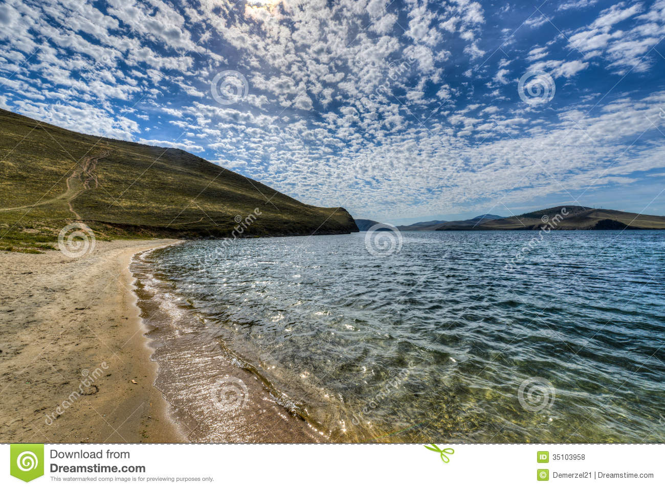 Crystal Clear Lake Baikal In Russia Stock Photo Image