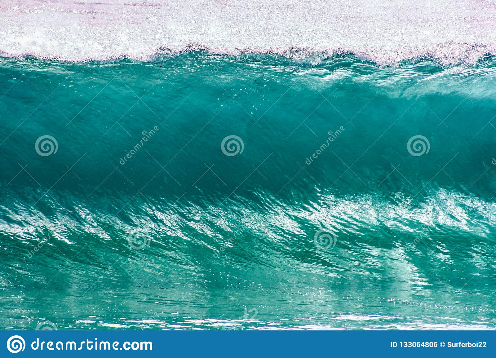 Crystal clear turquoise wave on the gold coast in queensland australia