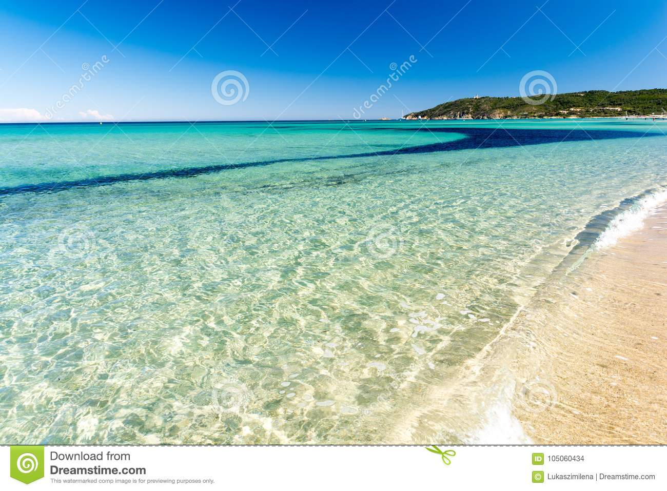 Crystal Clear Water On Pampelonne Beach Near Saint Tropez French