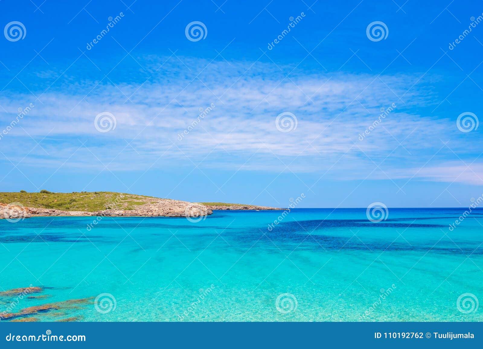 Crystal Clear Water von Mittelmeer in Arenal de Son Saura
