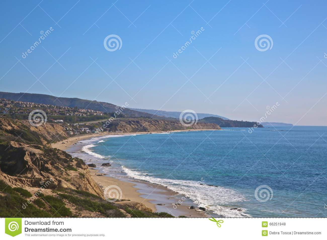 Crystal Cove Newport Beach California-Kustlijn