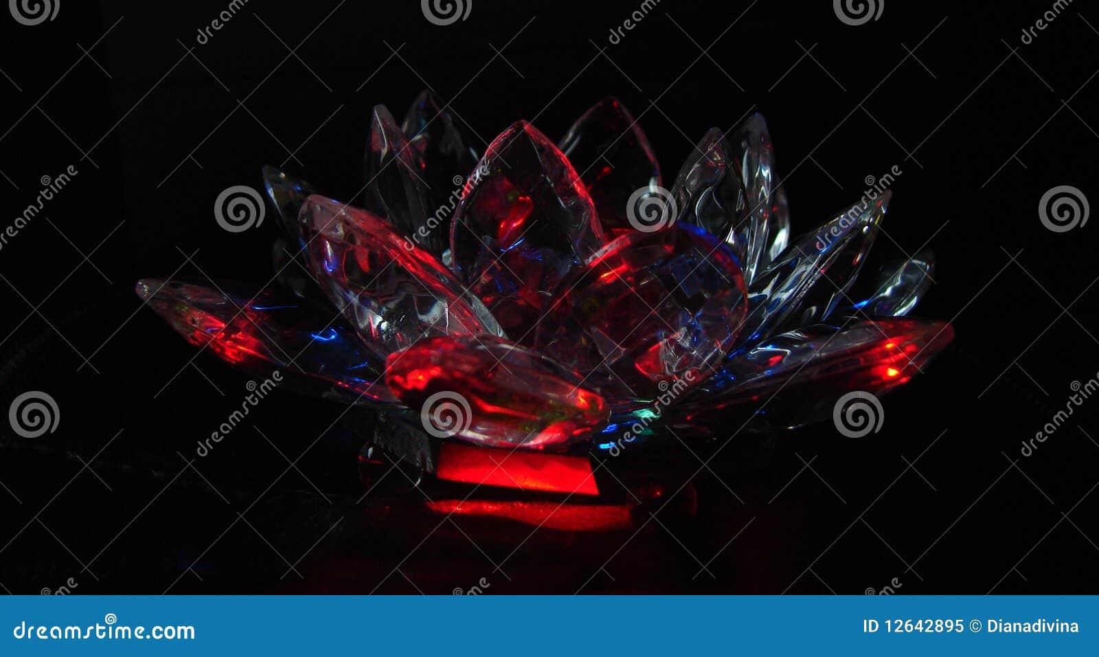 Crystal Crimson Lotus Stock Illustration Illustration Of Crystal