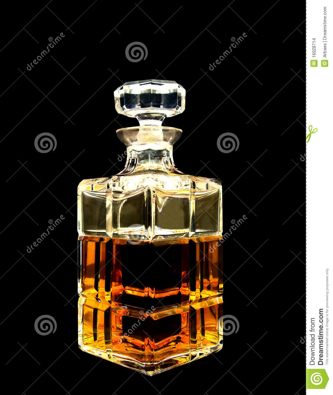a crystal decanter with whiskey stock photo image 16928714. Black Bedroom Furniture Sets. Home Design Ideas
