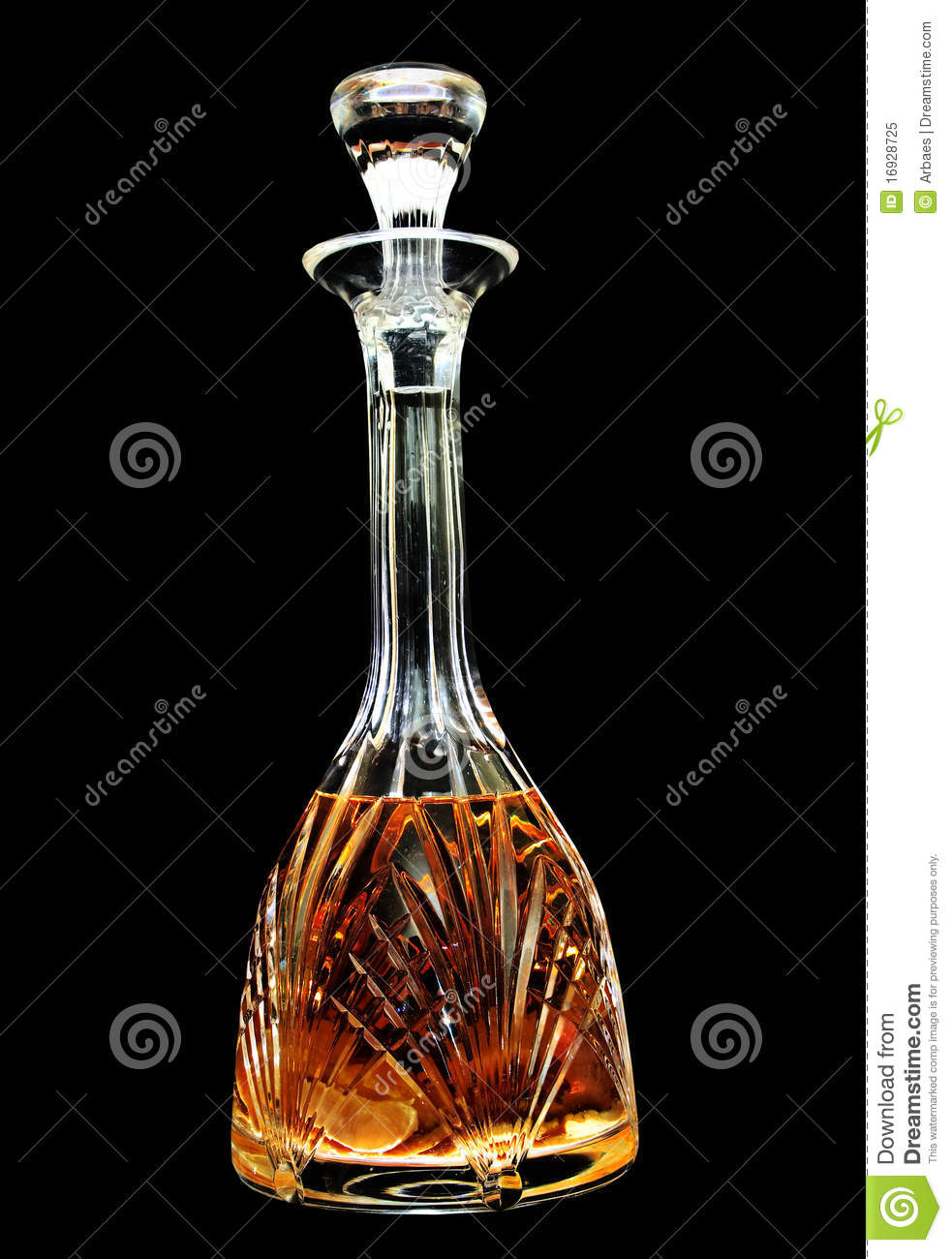a crystal decanter with whiskey stock image image 16928725. Black Bedroom Furniture Sets. Home Design Ideas
