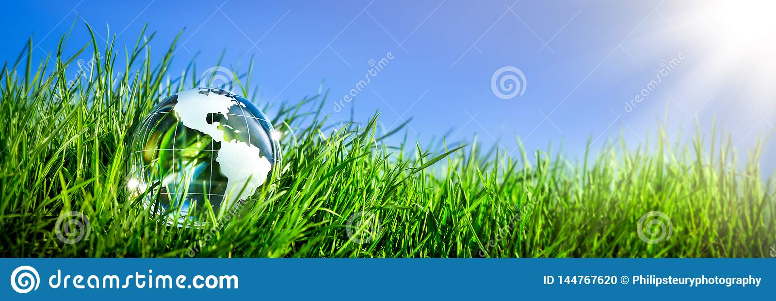Crystal Earth In Grass