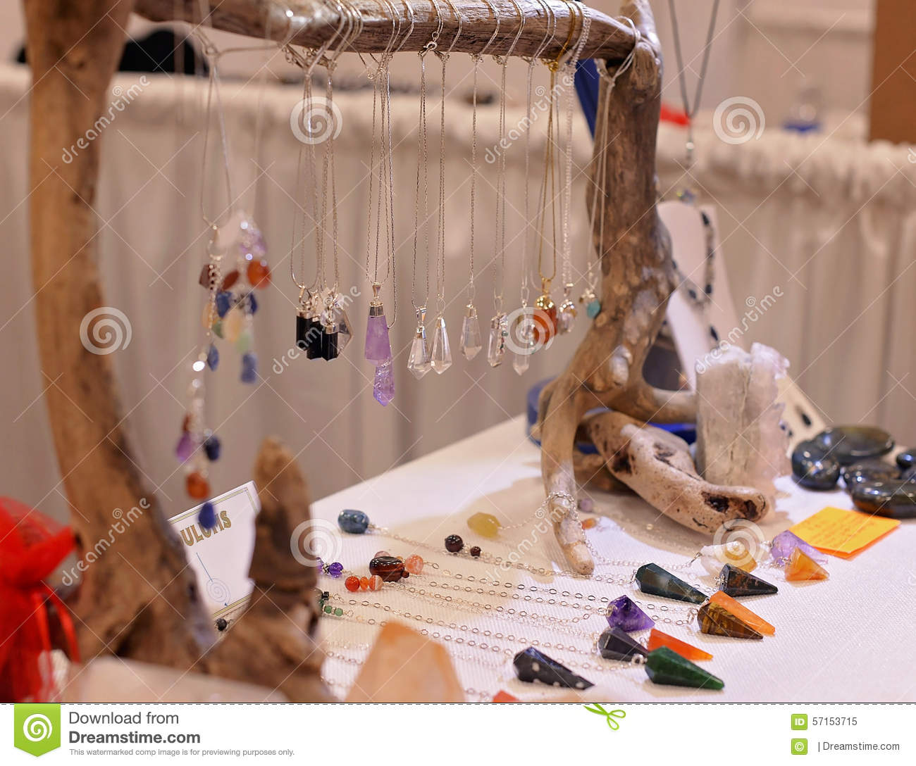 Crystal And Gemstone Pendulums Stock Image Image Of