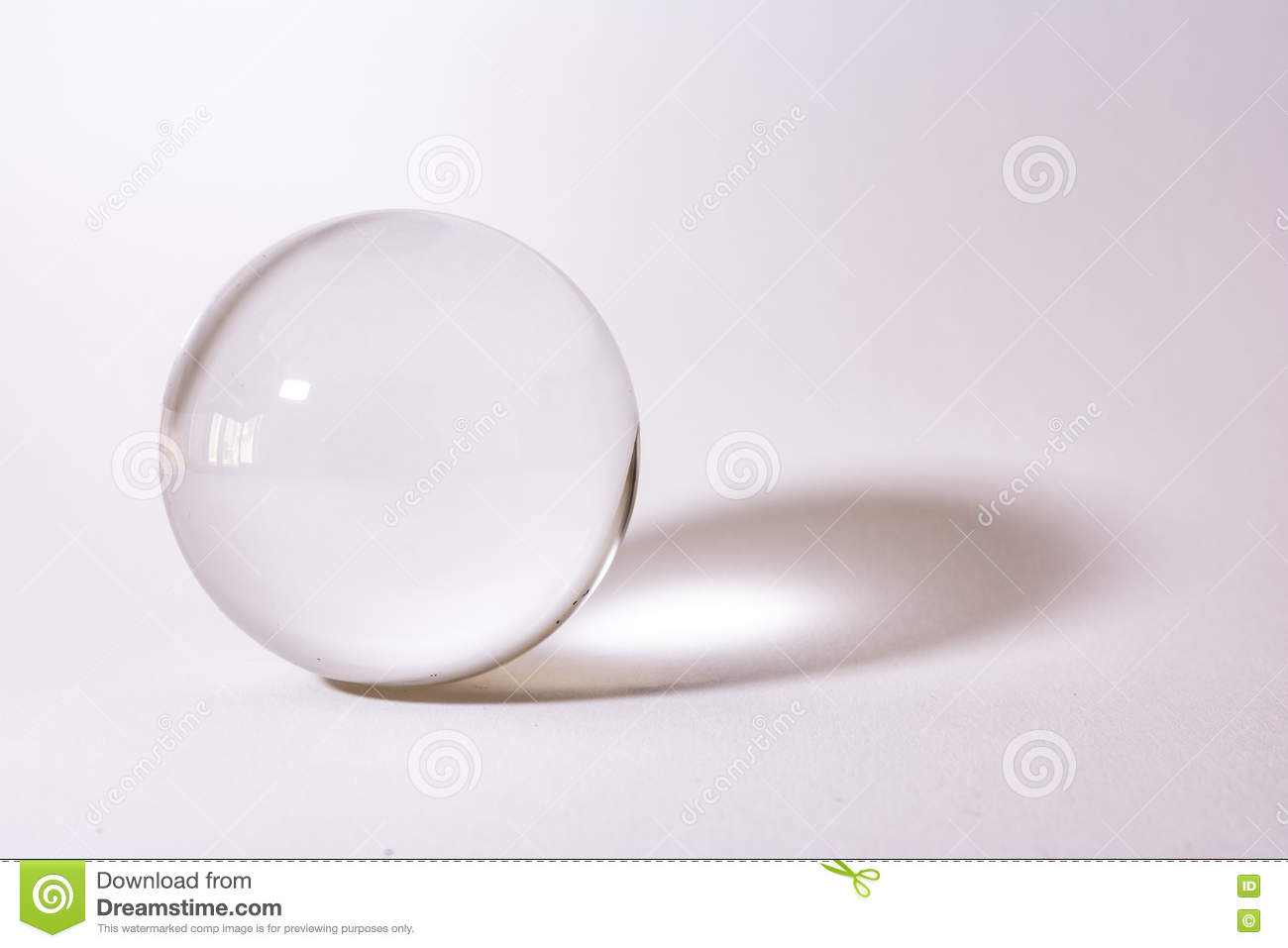 Crystal Glass Sphere Ball Transparent White Simple Object Background Light